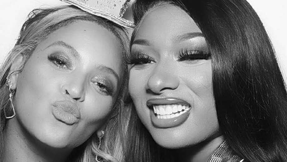 Beyonce and Megan Thee Stallion rank within the top five most tweeted about celebrities within the last six months. Photo: Via Instagram