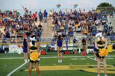 Hamshire-Fannett's fans fill the stadium to cheer on the Longhorns againsnt East Chambers during their match for the Rice Bowl win Friday night in Winnie. Photo taken Friday, September 11, 2020 Kim Brent/The Enterprise