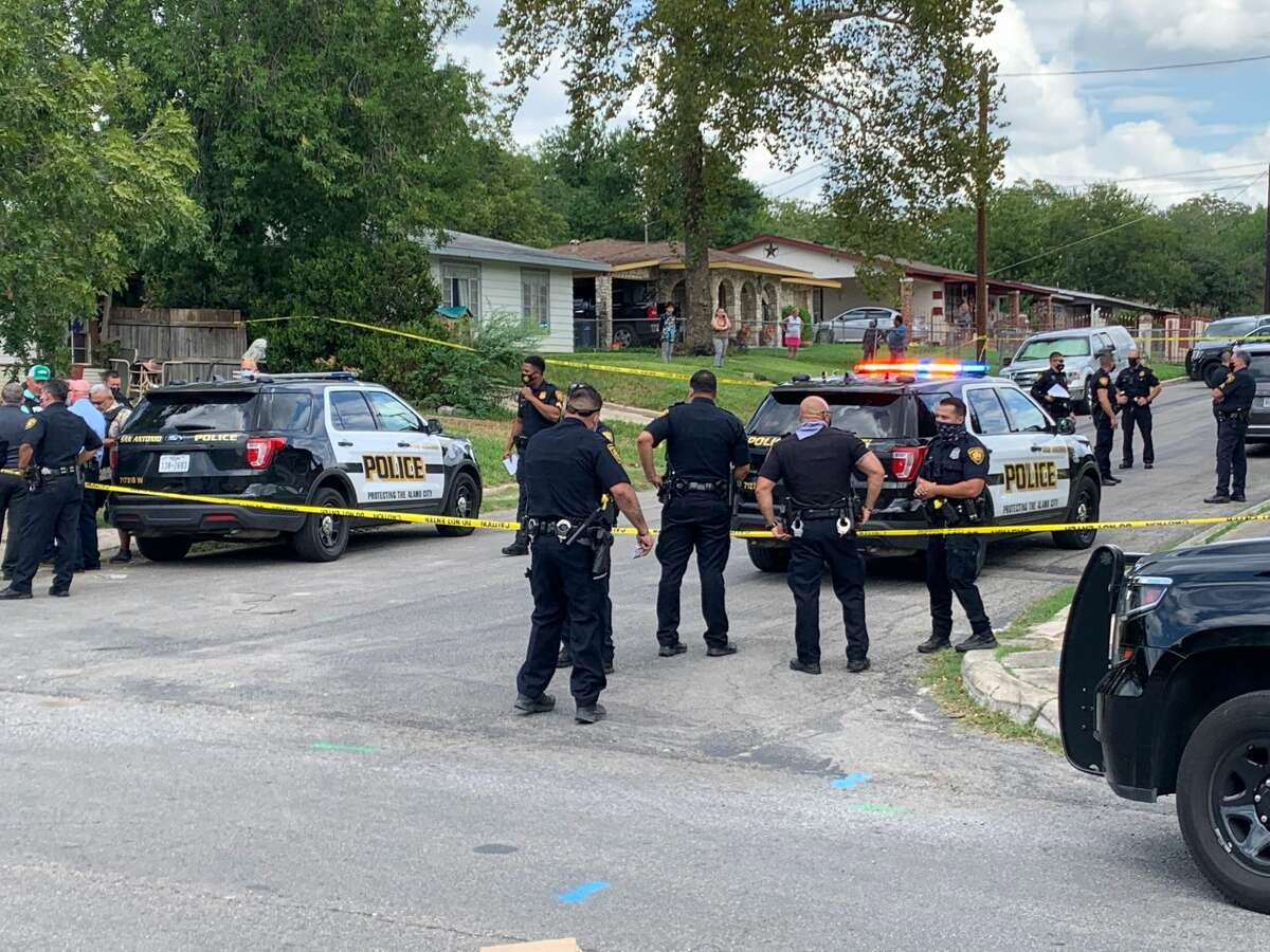 San Antonio police on scene of an officer-involved shooting that left one man dead on Sept. 16.
