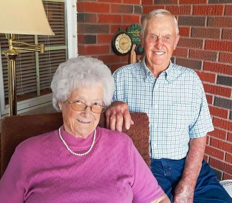 Grace and Delbert Kanallakan of Jerseyville will celebrate their 70th anniversary on Wednesday.