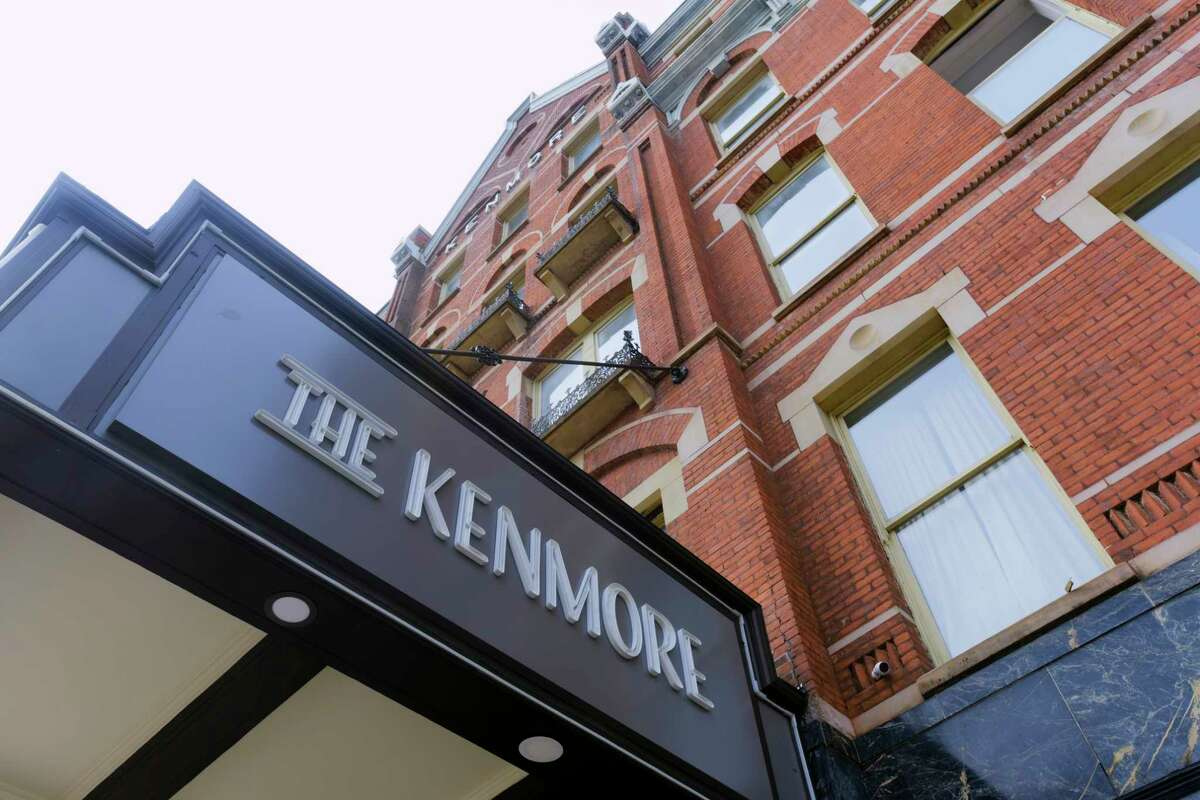 A view of The Kenmore on Tuesday, Sept. 15, 2020, in Albany, N.Y. The former hotel is going through an extensive renovation project and turning the upper floors into apartments. (Paul Buckowski/Times Union)