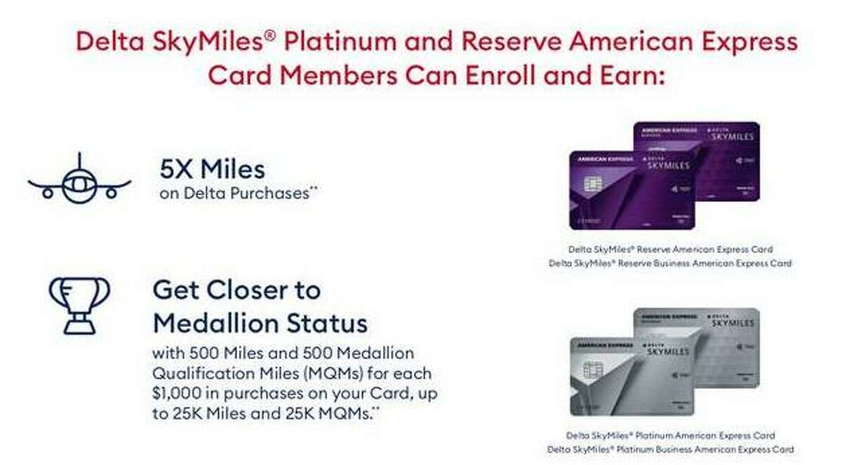 Delta Airlines mileage bonus.