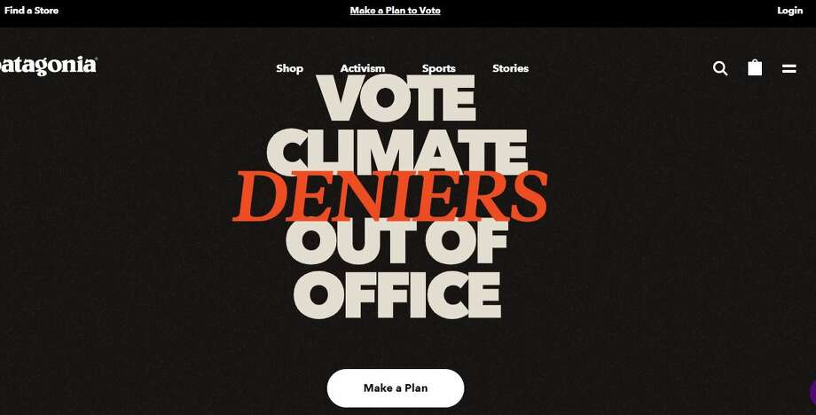 "Yes, Patagonia's founder Yvon Chouinard is undaunted when it comes to voicing his opinions about climate change and politicians who deny it. In fact, when you turn over the tag on Patagonia's newest line of shorts, you'll see this very direct, unabashed declarative: ""Vote the a-holes out."" Photo: Patagonia Website"