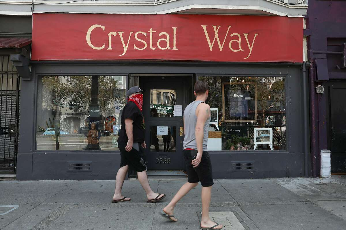 Outside view of Crystal Way on Tuesday, Sept. 15, 2020, in San Francisco, Calif. Crystal Way has struggled to pay its rent during the pandemic.