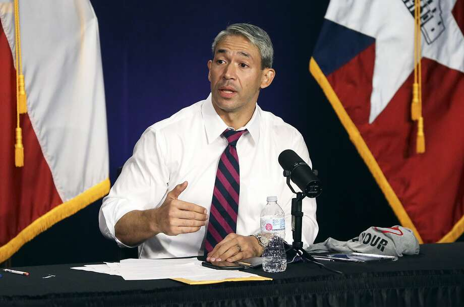 In this photo, San Antonio Mayor Ron Nirenberg leads the daily Covid-19 update on Aug. 24, 2020. During an interview with CNN on Sunday, Nirenberg called for the Electric Reliability Council of Texas — not individual residents — to pay for sky-high electricity bills generated by icy weather that left millions without power last week. Photo: Tom Reel, Staff Photographer