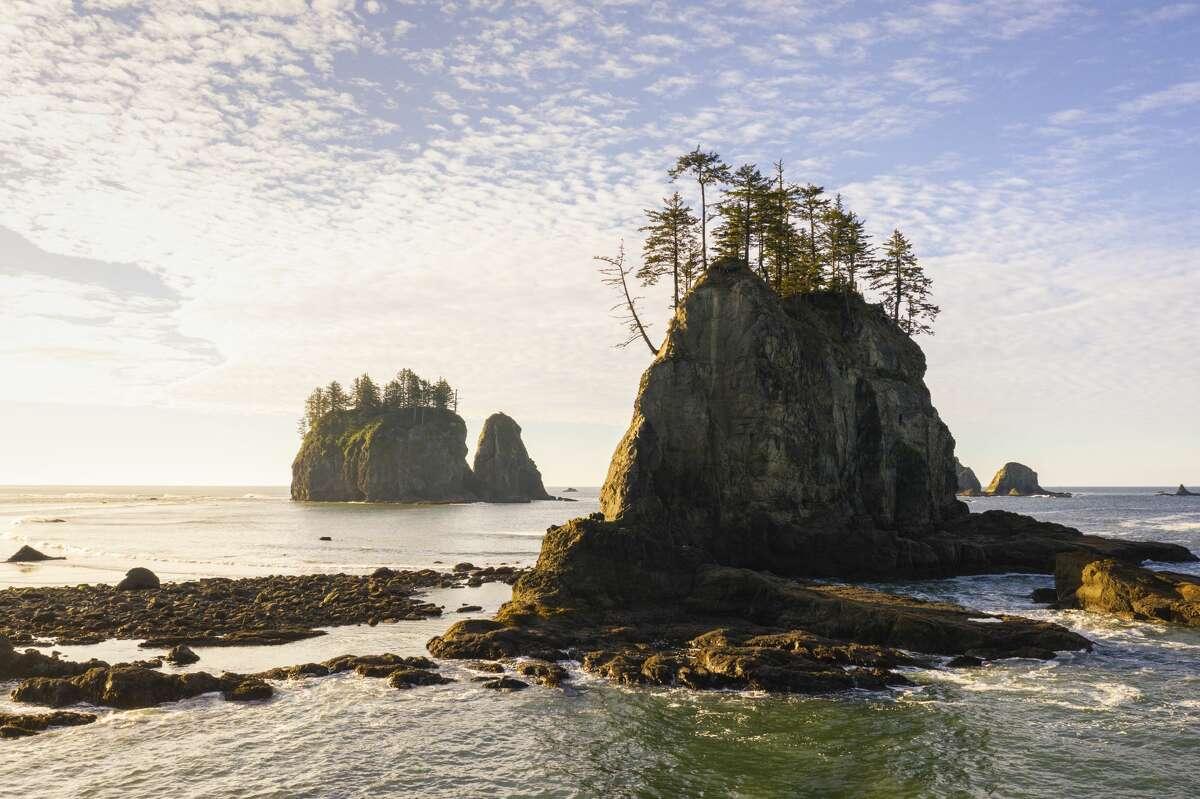 Morning shot at Second Beach in autumn, La Push, Clallam county, Washington, USA.