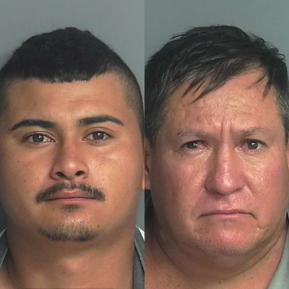 Hugo Sanchez-Sonanes, 21, of Spring, left, and Joaquin Sonanes-Maldonado, 48, right, are both facing a felony charge for alleged manufacture or delivery of a controlled substance. Photo: Courtesy Of The Montgomery County Sheriff's Office