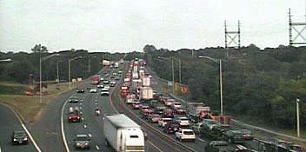 An accident involving a tractor-trailer truck and two other vehicles has closed two northbound lanes on I-95 late Tuesday afternoon on Sept. 15, 2020. The crash, reported at 5:46 p.m., has closed the right and center lanes between exits 17 and 18 in Westport.