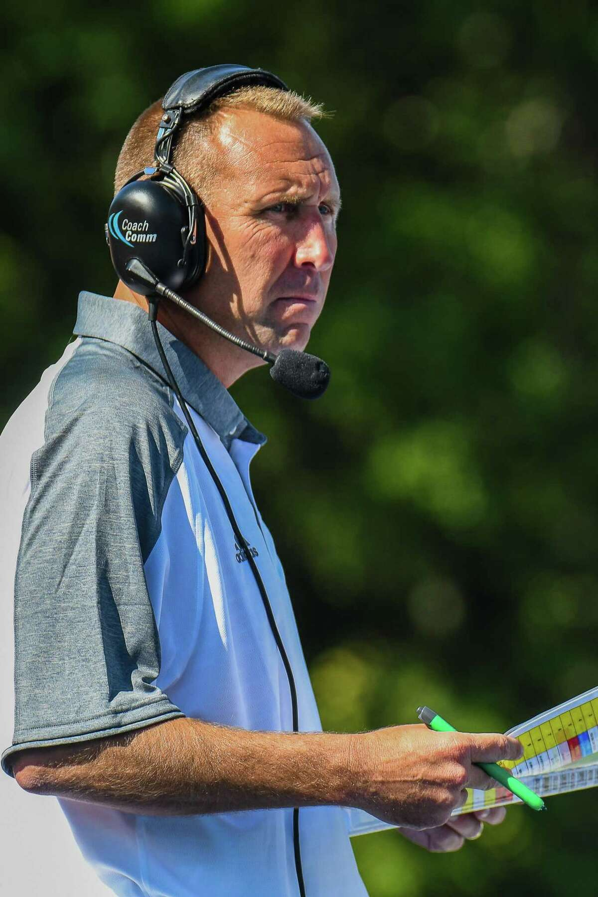 New Haven football coach Chris Pincince.