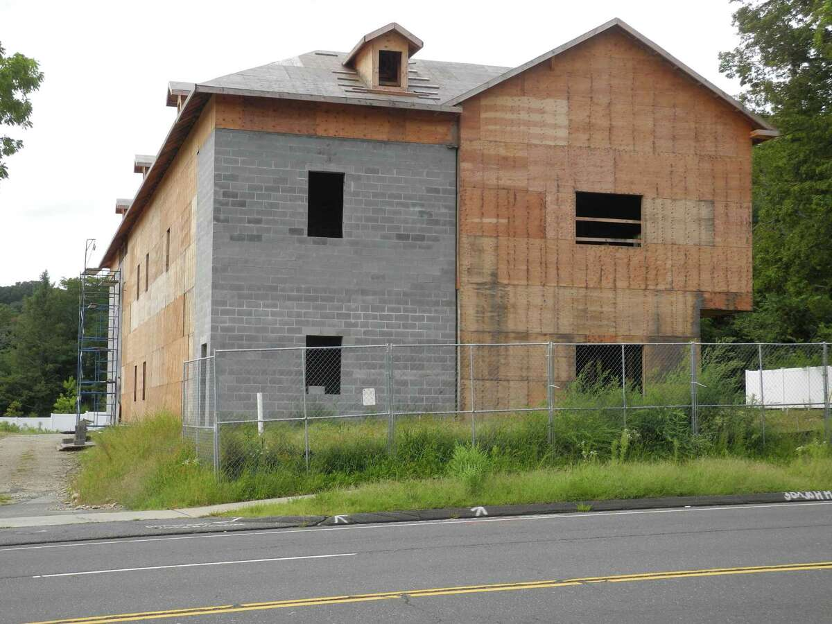 Work on the building expected to house a childcare center called The Learning Experience, seen here on Sept. 13, has been stalled for several months. Wilton Building Official Bob Root says things should be back on track in a few weeks at the site at 213 Danbury Road.