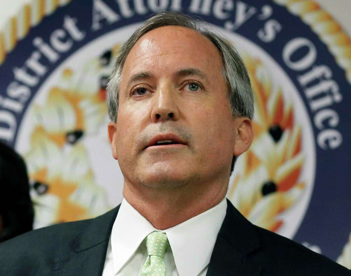 The office of Texas Attorney General Ken Paxton, pictured in April, filed a motion to stay and appeal Saturday following a federal judge's order to reinstate straight ticket voting ahead of the Nov. 3 general election.