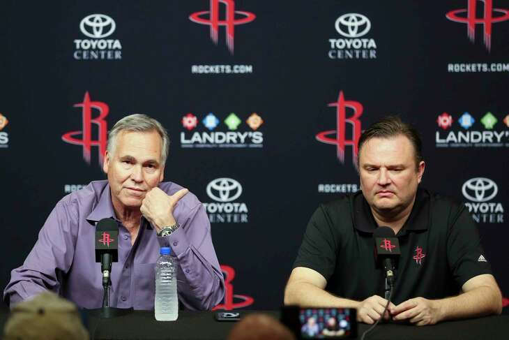 Mike D'Antoni, left, had the best winning percentage of any coach in Rockets history but decided he wouldn't spend a fifth season with general manager Daryl Morey.