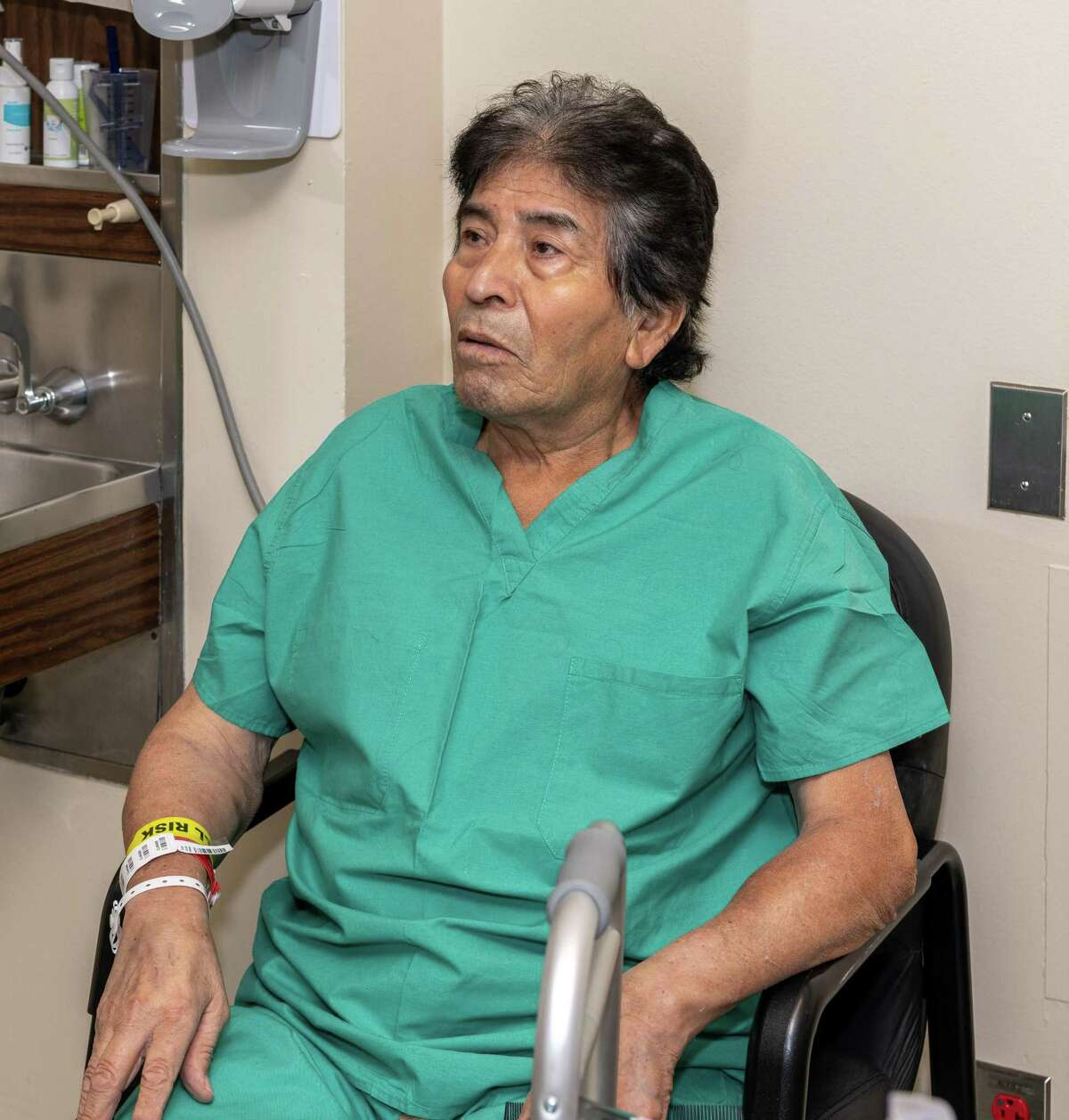 Francisco Medellin, the first double lung transplant patient in Texas gives an interview from his hospital room at Memorial Hermann Hospital on Thursday, September 10, 2020 in Houston Texas.