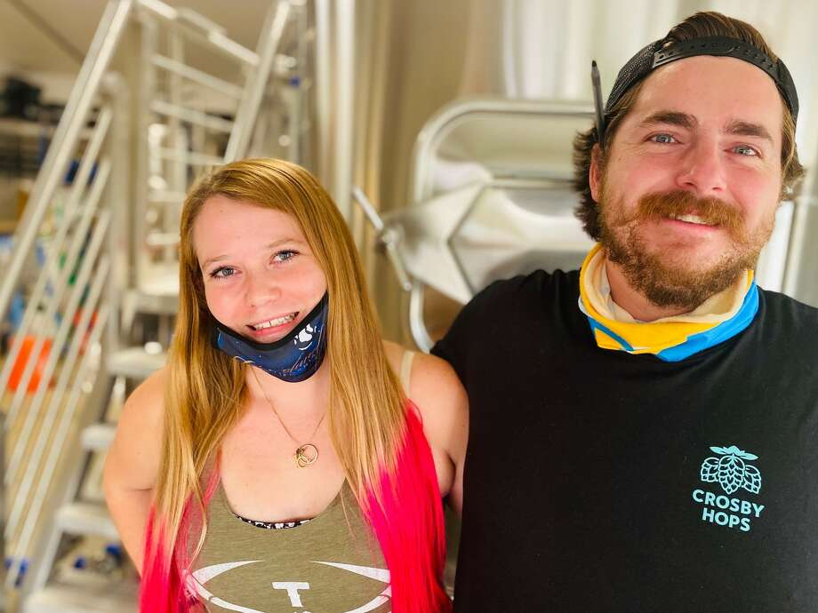Rachel and Andrew Sabatine started Around the Horn Brewing Company (along with Rachel's mom Shirley Horn) in the middle of a pandemic. Photo: Ashley Harrell