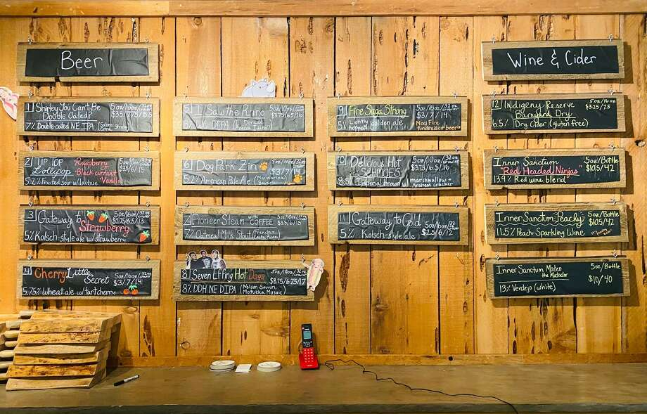 The beer selection at Around the Horn Brewing Company. Photo: Ashley Harrell