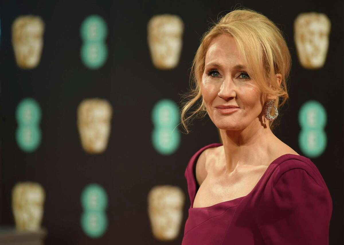 (FILES) In this file photo taken on February 12, 2017 British author J. K. Rowling poses upon arrival at the BAFTA British Academy Film Awards at the Royal Albert Hall in London on February 12, 2017. -