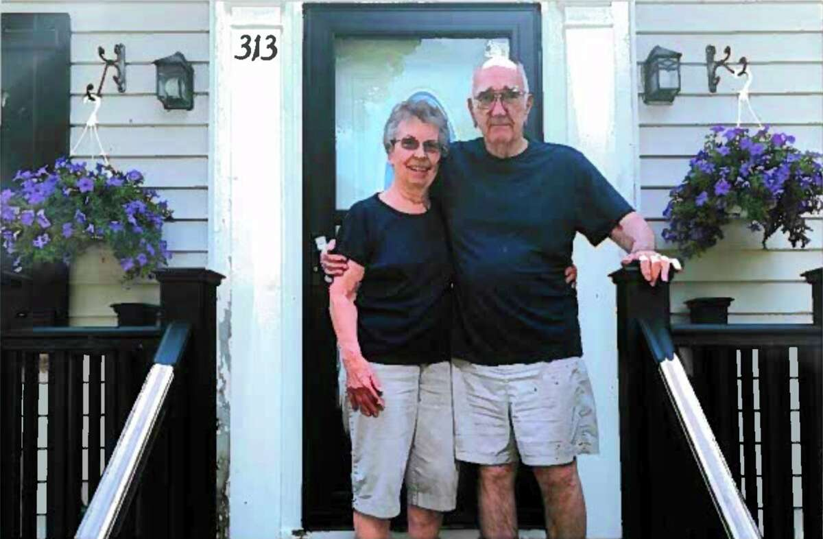 Reed City couplePeter and Janice Montague are celebrating 60 years of marriage this year. The couple first met in kindergarten. (Courtesy photo)