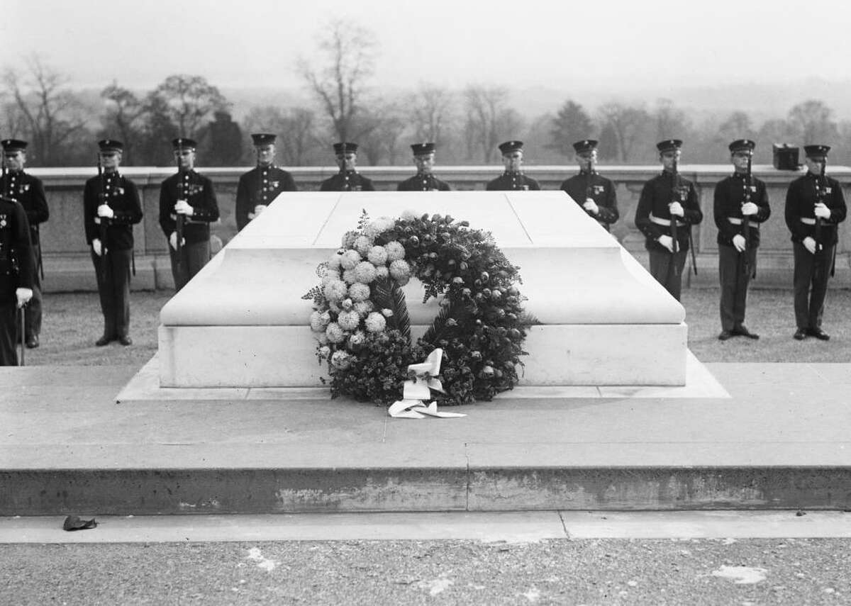 1921: Tomb of the Unknown Soldier - Budget surplus: $509 million (0.7% of GDP) - Total U.S. debt: $24 billion (32.3% of GDP) Congress approved the burial of an unknown soldier from World War I in Arlington National Cemetery in March. It became the Tomb of the Unknown soldier, and continues to represent all American service members and their sacrifices. The same year, New York Yankee pitcher Babe Ruth broke a home-run record with 139 single career home runs.