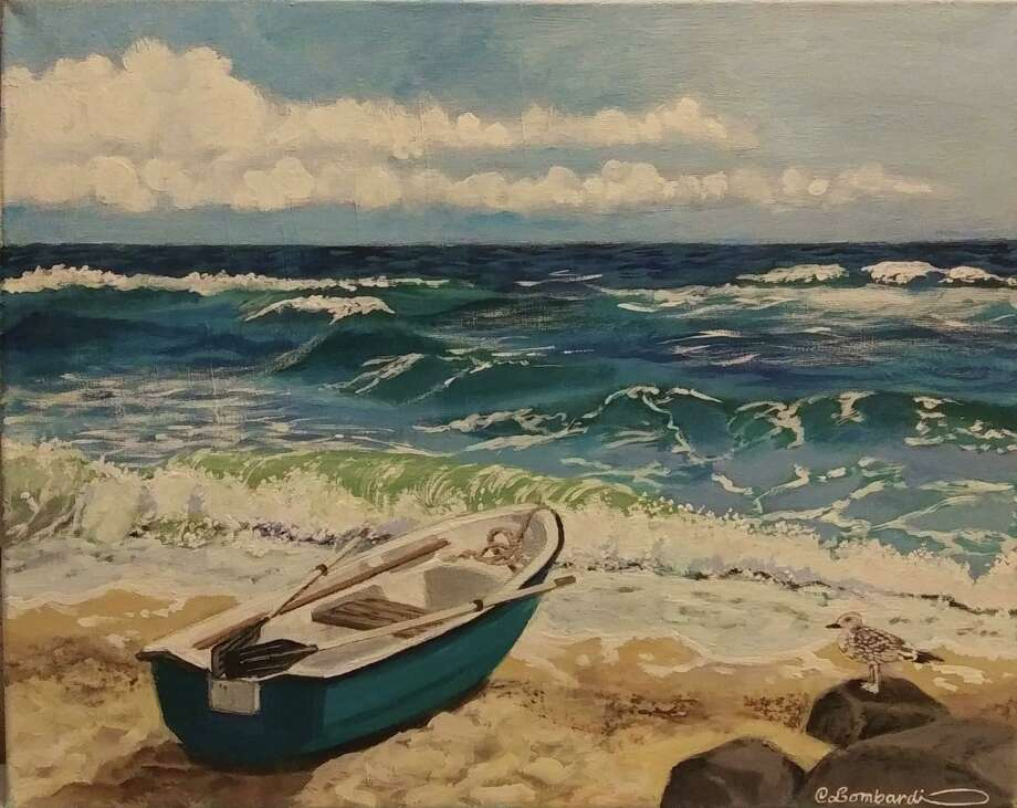 "Kent Memorial Library is presenting an exhibit, ""By the Sea,"" featuring works by resident Christine Lombardi through Oct. 30. Above is Lombardi's ""Lovely Day."" For more information, call the Main Street library at 860-927-3761. Photo: Courtesy Of Kent Memorial Library / Danbury News Times Contributed"