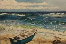 """Kent Memorial Library is presenting an exhibit, """"By the Sea,"""" featuring works by resident Christine Lombardi through Oct. 30. Above is Lombardi's """"Lovely Day."""" For more information, call the Main Street library at 860-927-3761."""