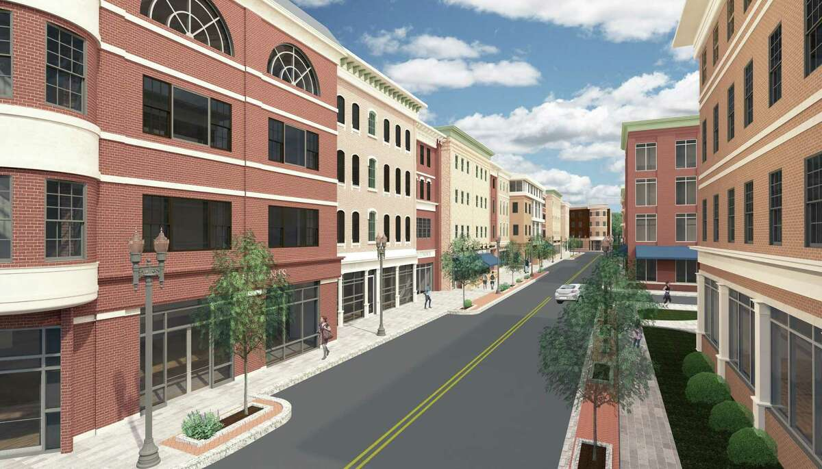 During his two decades on the Planning and Zoning Commission, Glenn Stevens was part of several major deliberations and rulings, including the approval process to turn the former Housatonic Lumber site on Factory Street into a development district on which Derby Downtown LLC hopes to build at least two four-story buildings with apartments on the upper level and retail outlets below, as shown in this rendering.