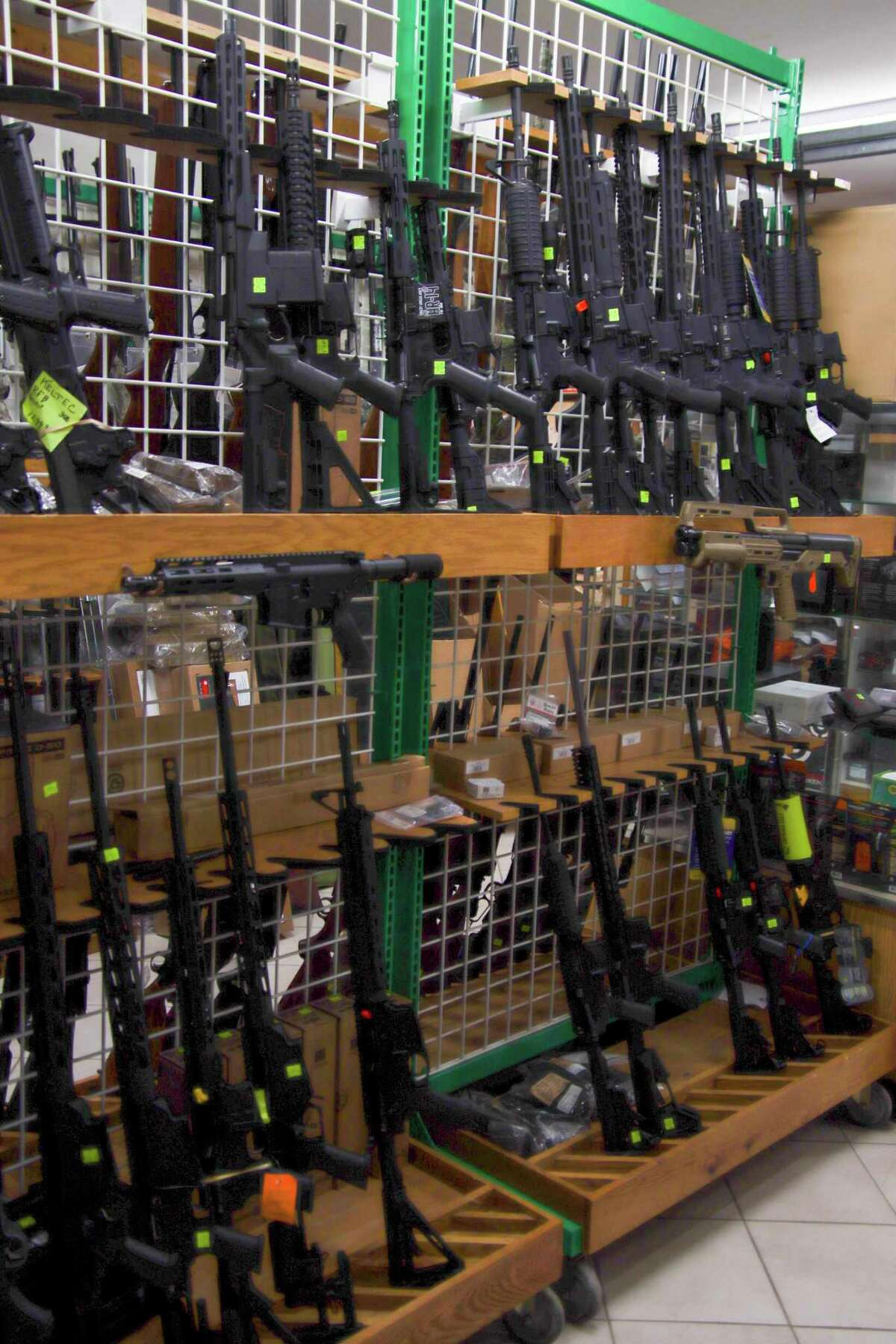 Randy Brown said despite his inventory position, there is a shortage of firearms and ammo across the country. (Scott Nunn/Huron Daily Tribune)