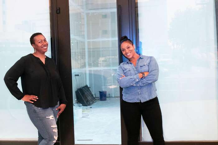 Alicia Kidd (left) and Mari Kemp are planning to open their new wine shop and bar, CoCo Noir, in Oakland in early 2021.