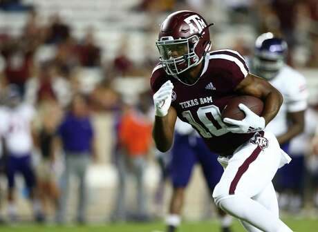 Third-year sophomore Jalen Preston has caught four passes in his Texas A&M career, including one for a touchdown.