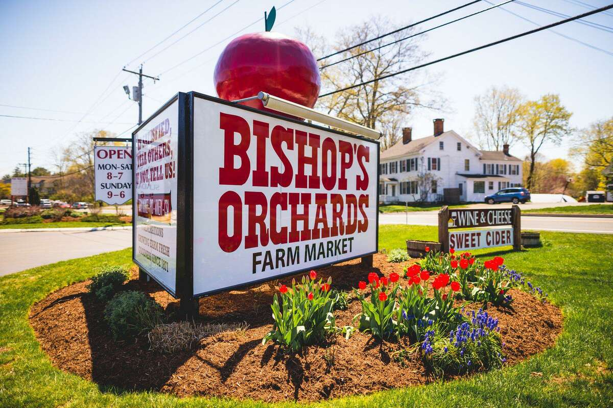 """Bishop's Orchards - Guilford 526 New England Road Open daily through Oct. 31 Theme: """"Bishop's 150th Anniversary"""""""