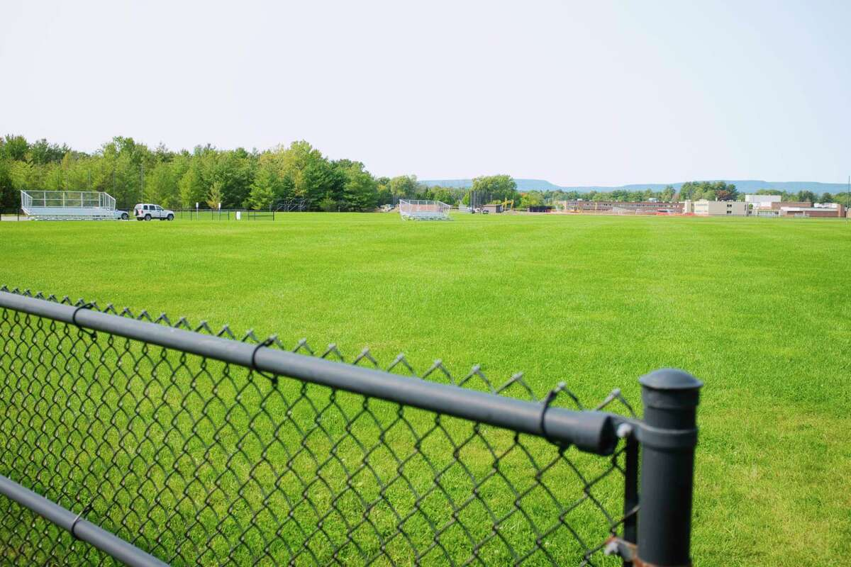 A view of a soccer field at Bethlehem High School on Wednesday, September 16, 2020, in Bethlehem, N.Y. The Bethlehem School District is not allowing soccer or field hockey to be played this fall even though New York State is allowing schools to participate in those sports. (Paul Buckowski/Times Union)