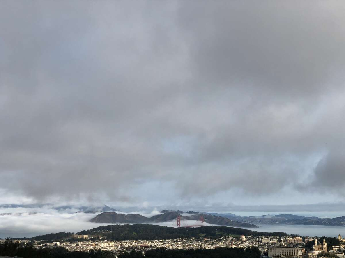 A view of clean air across San Francisco to the Golden Gate Bridge from Clarendon Heights on Sept. 16, 2020.