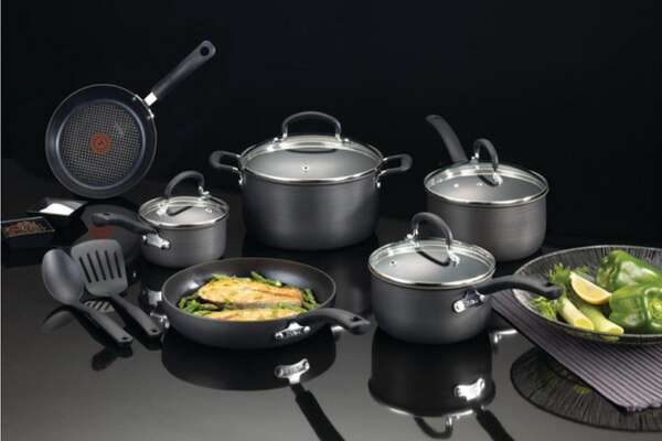 This T-Fal cookware set is on sale at Macy's.