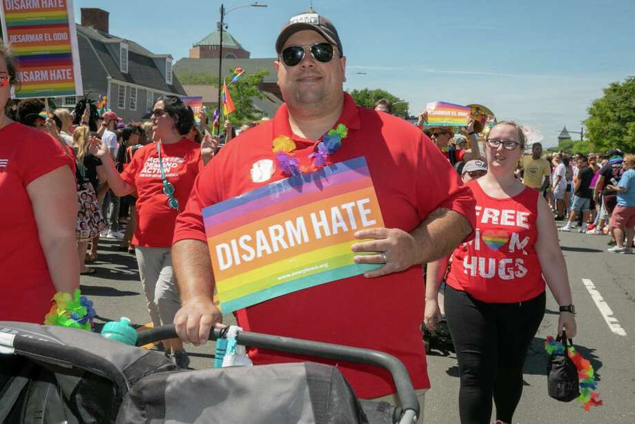 Middletown held its first Pride Festival and Parade to celebrate the LGBTQ community on June 15, 2019. Thousands attended the inaugural event held downtown to coincide with LGBT Pride Month. Photo: Sandy Aldieri / Perceptionsct.com