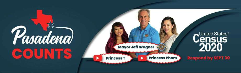The city of Pasadena's effort to promote Census participation has included billboards featuring Mayor Jeff Wagner and youg YouTube creators. Photo: Courtesy City Of Pasadena