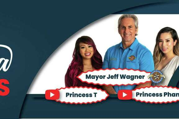 The city of Pasadena's effort to promote Census participation has included billboards featuring Mayor Jeff Wagner and youg YouTube creators.
