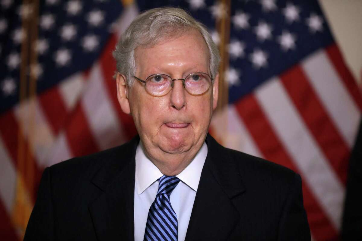 Senate Majority Leader Mitch McConnell, who is seeking a seventh term, leads the race for U.S. Senate in Kentucky 53 - 41 percent over Democratic challenger Amy McGrath. The results come from a Quinnipiac University poll released Wednesday, Sept. 16, 2020.