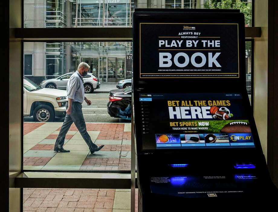 A betting machine awaits a customer at Capital One Arena in Washington, D.C., on Sept. 15, 2020. Photo: Washington Post Photo By Bill O'Leary / The Washington Post