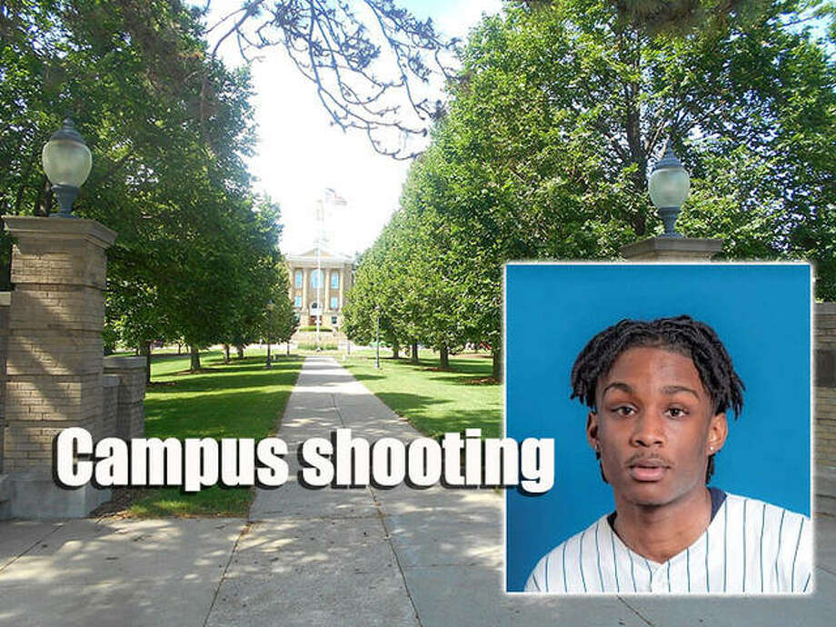 Freshman Kavion Poplous was taken into custody Wednesday in a shooting late Tuesday at a Western Illinois University residence hall. Photo: Journal-Courier   Campus Photo By Adam Moss
