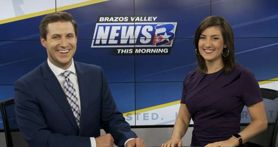 Kathleen and John Ninke serve as the morning anchor team at KBTX News3 Bryan-College Station, but more than that, they serve as husband and wife in real life. (Photo courtesy of Mike McGuff via Imgur images) Photo: Mike McGuff Via Imgur Images