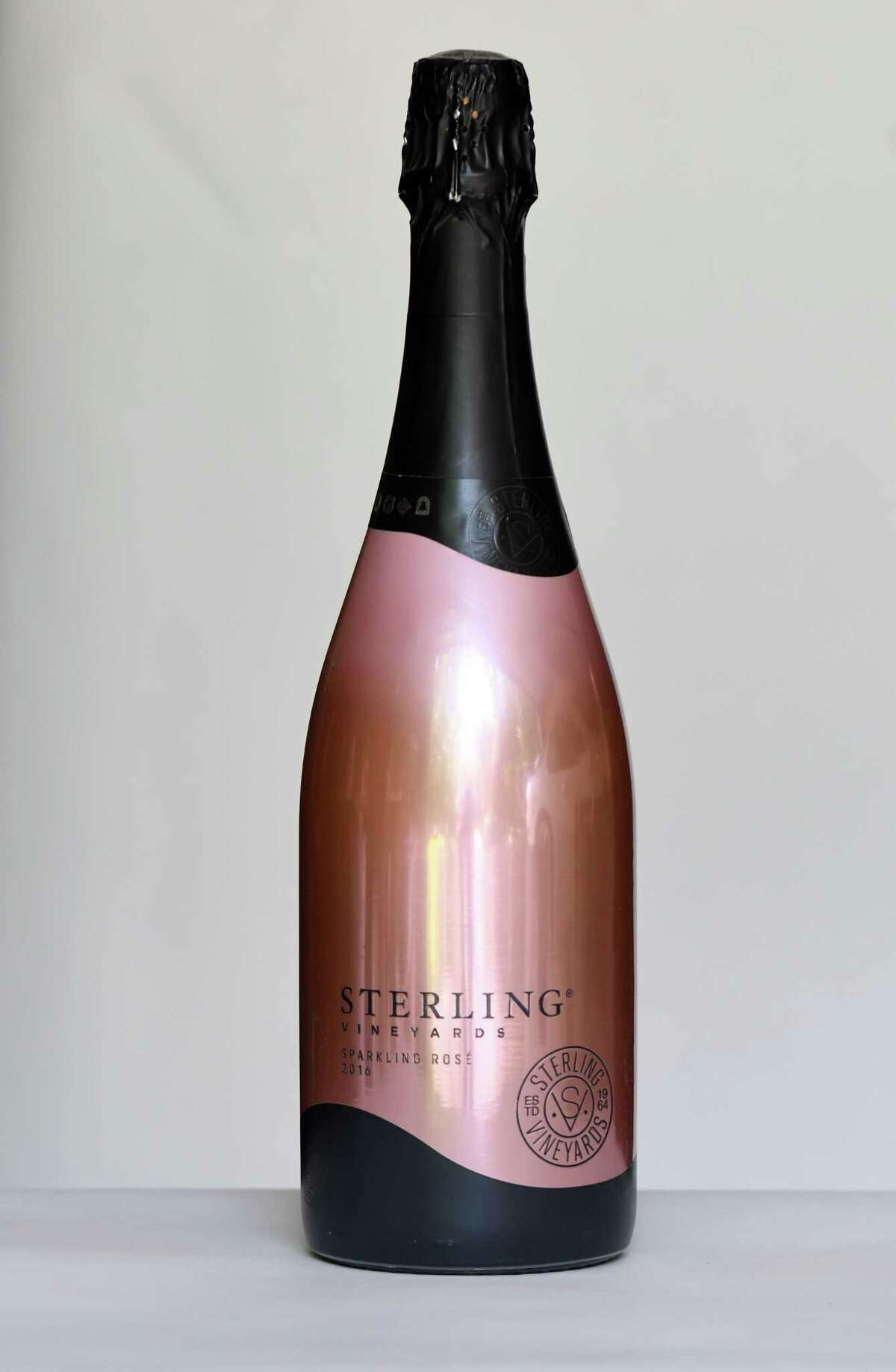 Sterling sparkling rose on Tuesday, May, 19, 2020, in Delmar, N.Y. (Will Waldron/Times Union)