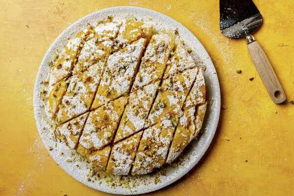 Tishpishti (Citrus Semolina Cake). MUST CREDIT: Photo by Laura Chase de Formigny for The Washington Post.