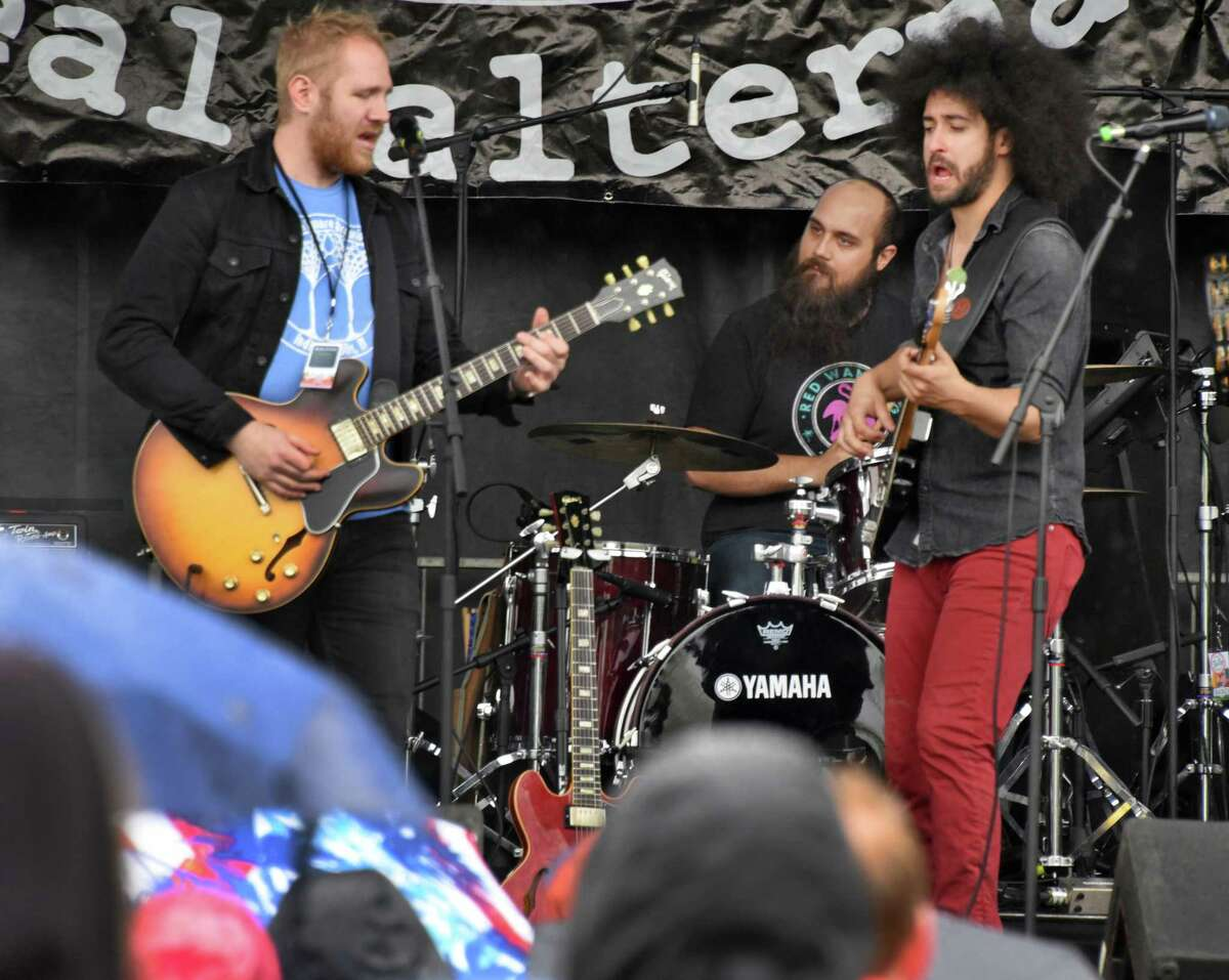 Rock band with local origins, Wild Adriatic performs during the 69th Annual Albany Tulip Festival Saturday May 13, 2017 in Albany, NY. (John Carl D'Annibale / Times Union)