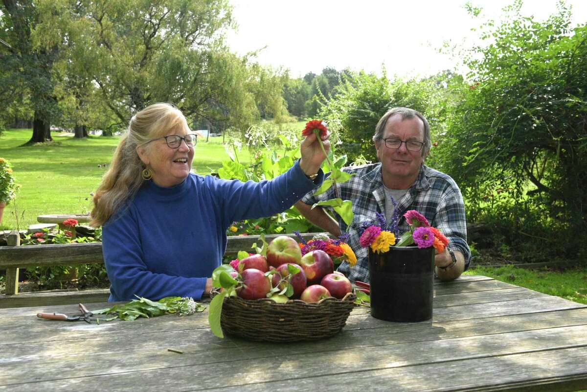 Cathleen and Howard Bronson, of Maple Bank Farm in Roxbury, have been helped by the Northwest Connecticut Land Conservancy navigating the state's Farmland Preservation Program.