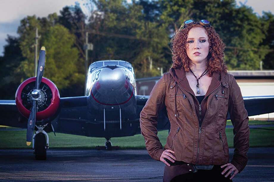 Jelinek plays Amelia Earhart's fictional great-grandaughter, Ember, in the series. Photo: Photo Provided