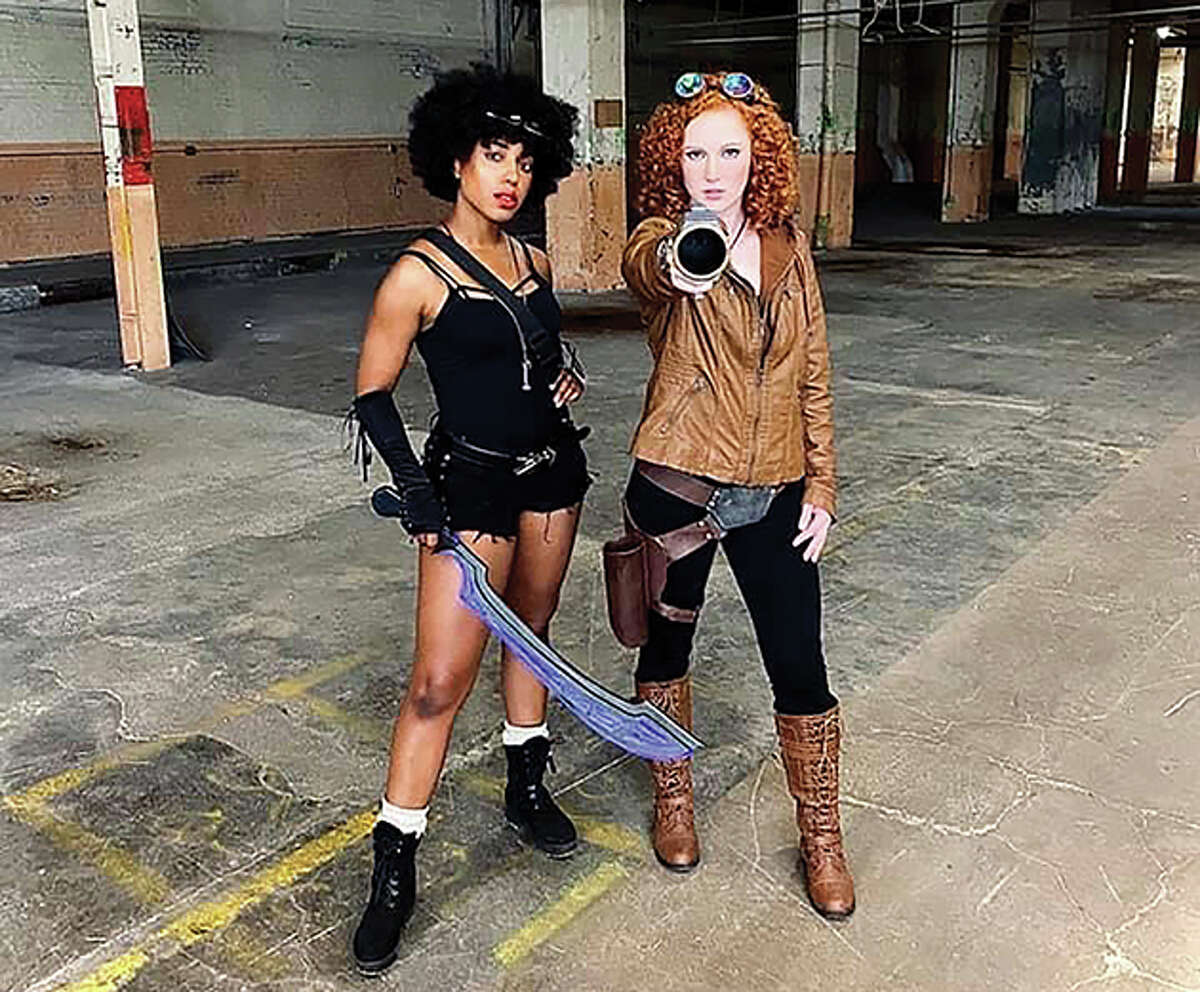 """Actors Taylor Adams (left) and Kelly Jelinek pose in a photo for the series """"Time Girl."""" The show has Jacksonville roots and the production team wrapped up shooting in several Jacksonville locations for its """"pitch reel."""""""