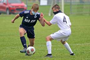 The Bad Axe boys varsity soccer team roughed up visiting Capac on Wednesday afternoon, beating the Chiefs 8-1.
