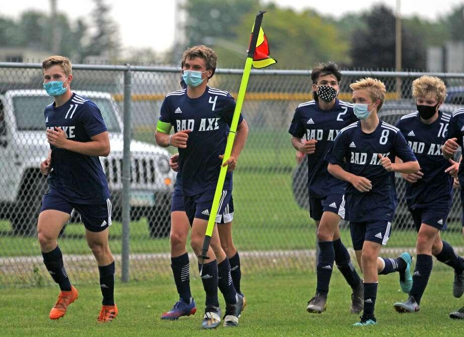 The Bad Axe boys soccer team will play Midland Calvary Baptist on Thursday afternoon for a district championship. Photo: Mark Birdsall/Huron Daily Tribune
