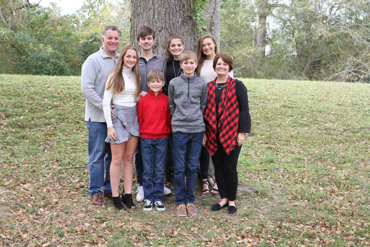 The Reese family has graduated six children from Creech Elementary School in Katy. Now, Meredith Reese, the oldest is student teaching there. Back row, from left: Nathan, Ryan. 20; Olivia, 18; and Meredith, 22. Front row, from left: Bridget, 16; Grady, 11; Connor, 14; and Susan.