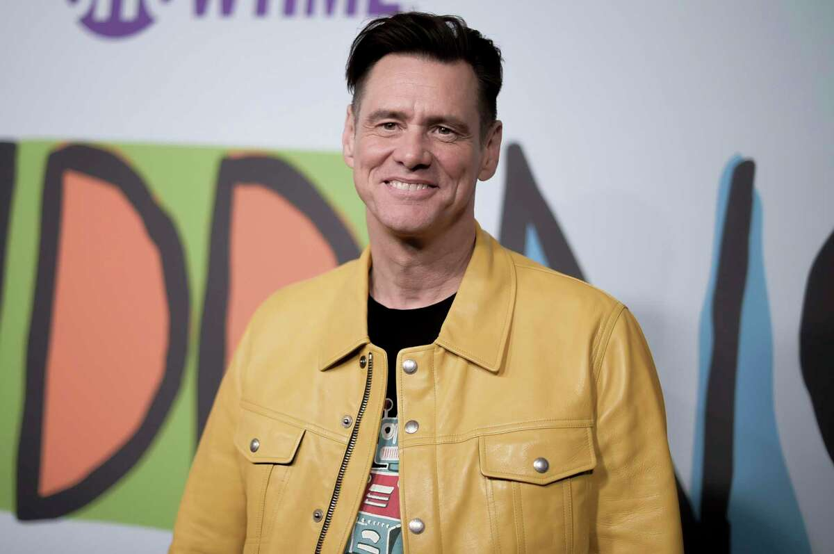 FILE - In this Sept. 5, 2018 file photo, Jim Carrey attends the LA Premiere of