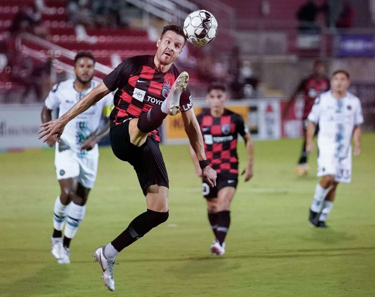 Austin Bold FC plays San Antonio FC during the first half of a USL Championship soccer match, Wednesday, Sept. 16, 2020, at Toyota Field in San Antonio, Texas. (Darren Abate/USL Championship)